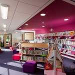 colourful school library at Cranford Park Infant School
