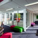 corridor around central courtyard at Cranford Park Infant School