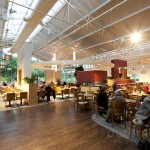 Large seating area in garden centre restaurant
