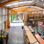 warehouse interior of Travis Perkins Builders Merchants Farnham