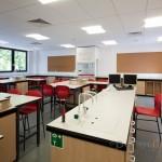 empty Chemistry classroom at  Portsmouth Grammar School New Science Block