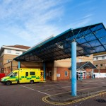 canopy covering the ambulance accident and emergency entrance to