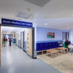 Reception and entrance to AMU Acute Medical Unit, Chichester Hos