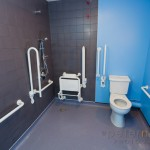 Disabled wetroom bathroom.