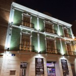 Exterior of Urban Youth Hostel in Valencia Spain at night
