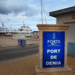 Sign at the entrance to the Port of Denia Spain