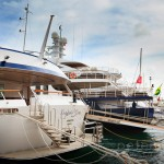 Luxury yachts moored at Denia for over winter maintenance