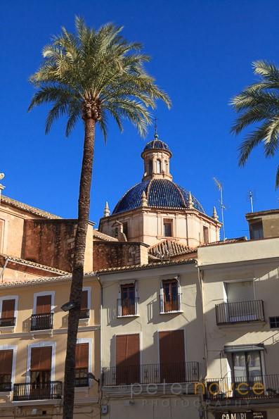 The Dome of the Church of Nuestra Senora de la Asuncion in Liria Spain