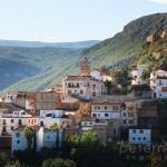 Mountain village of Chulilla in valencia spain