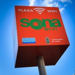 Plaza Wi-Fi sign in Turis Spain