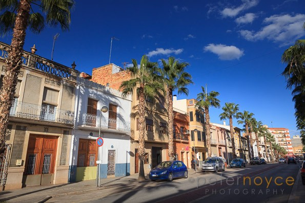 Les Courts Valencianes Avenue the main street in Turis Spain
