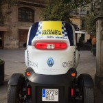 A Renault Twizy used by the local police in Valencia to patrol pedestrian areas