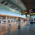 Empty check in area at Valencia Airport